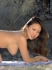Kristen Muranaga in Big Boobs Asian Babe in Negligee